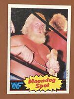 1985 Topps WWF Moondog Spot RC #19 MINT