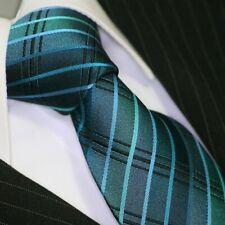 Krawatte Krawatten Schlips Tie corbata cravate Binder de Luxe 711 Petrol