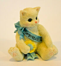 Calico Kittens: Congratulations - Kitten with Blue Banner - Miniature 167312