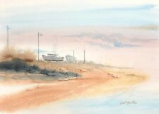 "Carl Martin ""Shore Line"" original watercolor on Arches"