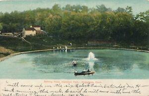 WATERBURY CT – Hamilton Park Bathing Pond – udb – mailed 1908