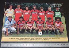 CLIPPING POSTER FOOTBALL 1985-1986 D2 EN AVANT GUINGAMP EAG ROUDOUROU