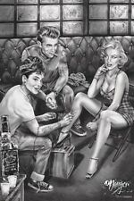 MARILYN MONROE,JAMES DEAN,AUDREY HEPBURN JAMES DANGER HARVEY DESIGN POSTER NEW!
