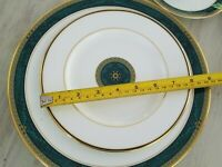 Lenox Classic Edition DINNER, SALAD PLATES & TEA CUP! Gold Band Green Marble