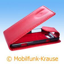 Flip Case Etui Handytasche Tasche Hülle f. Samsung Omnia W (Rot)