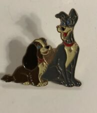 Vintage Disney Collector Lady and the Tramp Pin - Enamel - No Back