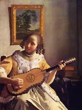 Johannes vermeer guitar player old master art painting print poster art 1595OM