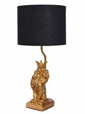 Goldene LED Tischleuchte 51cm Wohnzimmerlampen Flurleuchten Nachttischlampen