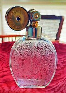 Rochas* Marcel Franck Perfume Bottle Baccarat Crystal Glass Escale Atomizer '40s