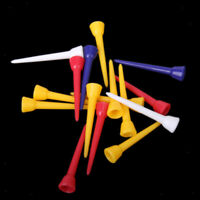 100Pcs 54mm Mixed Color Plastic Golf Tees Golfer Training Practice Tee Stand