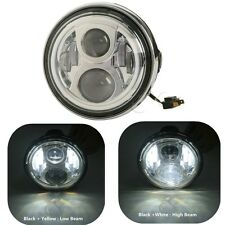 "Chrome 7"" Round LED Headlight Head Lamp For Honda Hornet 250 600 900 VTR250 VTEC"