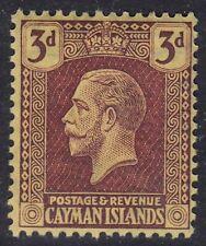 CAYMAN ISLANDS 1921-26 SG75 3d PURPLE/YELLOW UNMOUNTED MINT