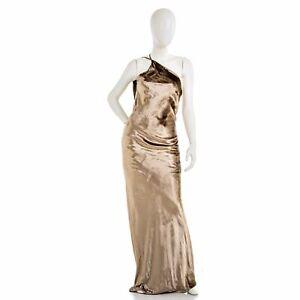 MICHELLE MASON Asymmetrical Velvet Dress