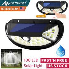 Waterproof Solar Light 100 LED Wall Lamp Outdoor Motion Sensor Detector Garden