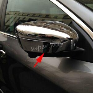 Chrome Side Wing Mirror Covers Trim For Nissan X-Trail T32/Qashqai J11/Murano
