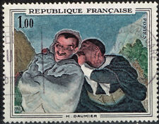 France Arts Crispin and Scapin Honoré Daumier Famous Painting stamp 1966