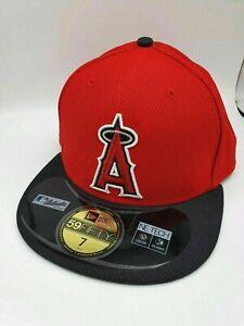 New Era MLB 59Fifty 5950 Diamond Era Fitted Cap Hat - Angels of Anaheim