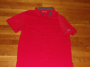 UNDER ARMOUR HEATGEAR SHORT SLEEVE RED POLO SHIRT MENS XL EXCELLENT CONDITION