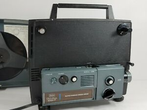 Sears Auto-Thread Zoom  Du-All 8mm Projector 9232 8mm & Super 8 W/Reel - Works!