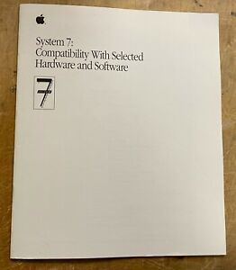 Apple System 7: Compatibility With Selected Hardware and Software P/N:030-3955-A