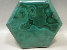 Malachite Hexagon Box 2.25 inch Stone Green Gemstone Africa Jewlery Box #5