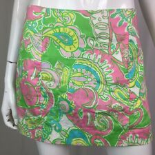 $78 Lilly Pulitzer Women's 0 Green Pink Paisley Floral Mini Skort