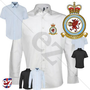 RAF Valley Long or Short Sleeve Dress Shirt with Embroidered Badge