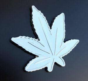 Car 3D Decal Auto SUV Truck Chrome Badge Emblem Marijuana Leaf Cannabis Weed -