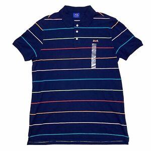 Le Tigre Thin Stripe Polo Shirt Large Navy