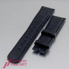 A.Lange und Söhne - Krokodil- Leder- Armband - halbmatt - dunkelblau - 20/16mm