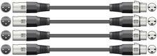 4 x 3M DMX Lighting XLR Signal Cables / Leads 110 Ohm