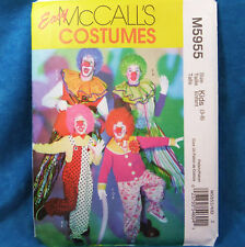 McCall's Costume 5955 Kids Clown 4 looks sz 3-8 NEW