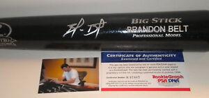 Brandon Belt San Francisco Giants ROOKIE Auto Signed Bat PIC PSA/DNA COA