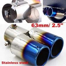 "2.5"" Roasted Blue Universal Car Accessories Stainless Steel Exhaust Tip Pipe"