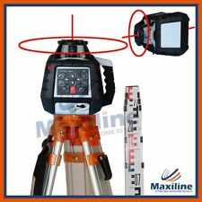 Maxiline GSW 206 Self Leveling Rotating Rotary Laser Level w Tripod and Staff