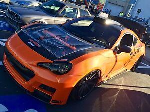 KevTEC: Carbon Fiber + CLEAR Hood Scion FR-S Subaru BRZ Toyota 86 GT86 FT86