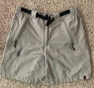 Alpine Design Men's Size Small Hiking Shorts Lightweight Khaki Pockets Belted