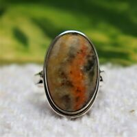 BUMBLE BEE JASPER RING NATURAL GEMSTONE 925 STERLING SILVER JEWELRY RING 3 TO 12