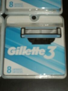 Gillette 3, 40 Refill Blades New In Package (10 sets)