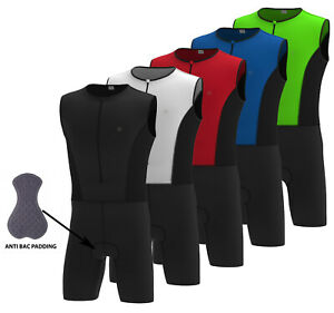 DHERA Triathlon Suit Padded Compression Running Swimming Cycling Tri Skin Suite