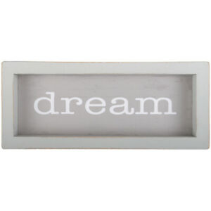 """DREAM Framed Wooden Message Bar Sign, 6"""" x 2.5"""", by Carson"""