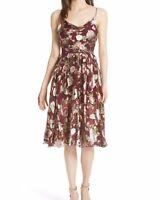 Size 6 - NWOT New $295 ALICE + OLIVIA Burn Out Floral Print Knee Length Dress