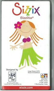 Sizzix SIZZLITS Medium Die GIRL IN HULA COSTUME #655275 Discontinued 2007 rrp £6