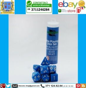 Blackfire set di dadi per gioco di ruolo Dice GDR RPG Blue Blu Alta Qualità