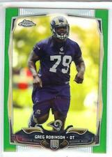 GREG ROBINSON 2014 TOPPS CHROME ROOKIE RC GREEN REFRACTOR #135 ST. LOUIS RAMS