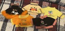 Set Of 5 Teddy Bear Sweaters
