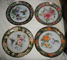4 Franklin Mint Hummingbird Imperial Collector Plates by Theresa Politowicz Bird