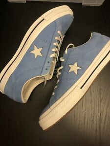 Converse One Star Ox Light Blue Leather Shoes Sneaker Size M 11 /W 10 161585C