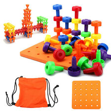 30PCS Peg Board Montessori Occupational Therapy Motor Toy for Toddlers Pegboard