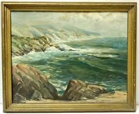 HARLAN CONFER Early California Plein Air Laguna Beach Seascape Oil Painting
